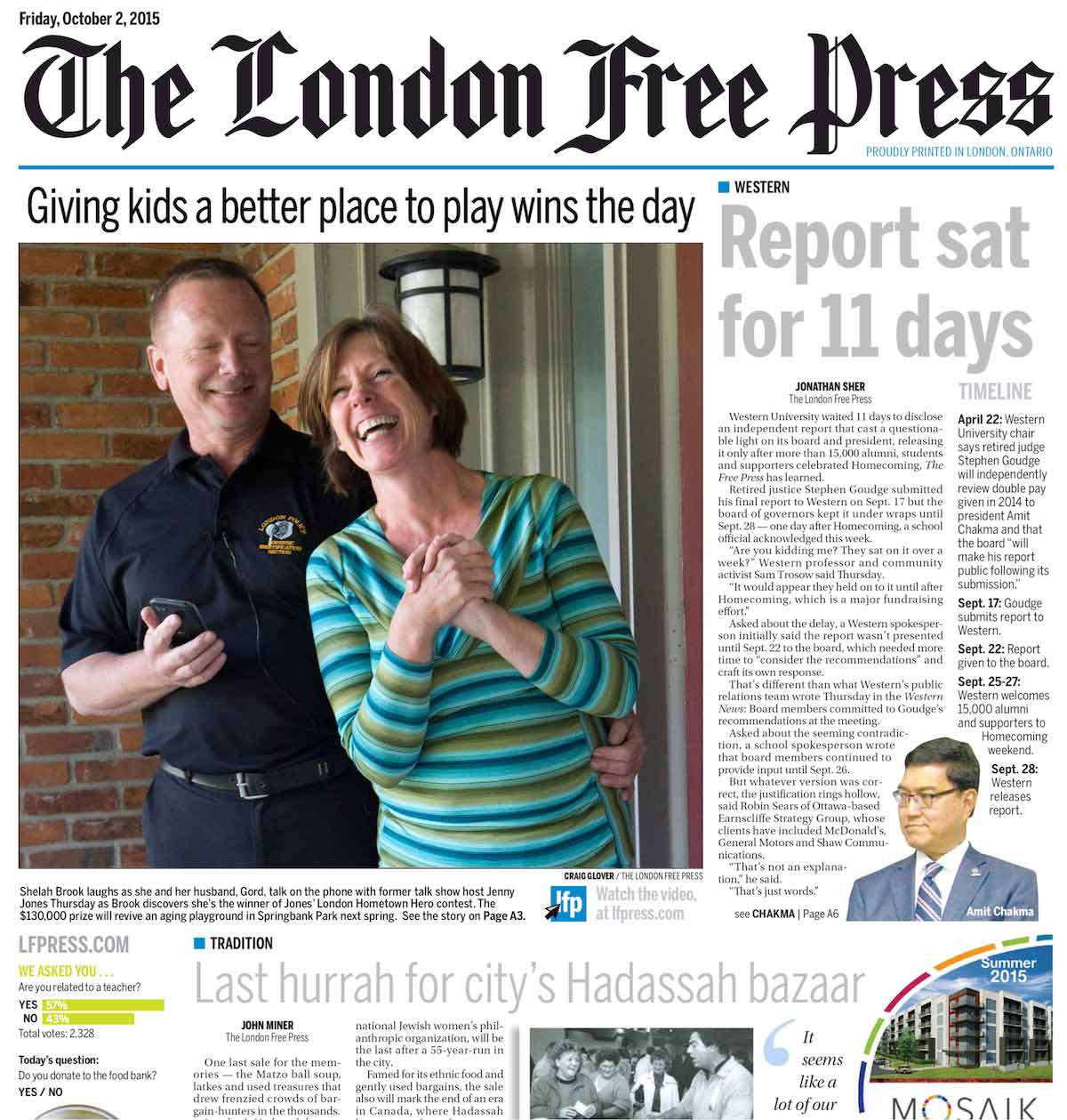 London Free Press e-edition - The London Free Press - 2 Oct 2015 - Page #1