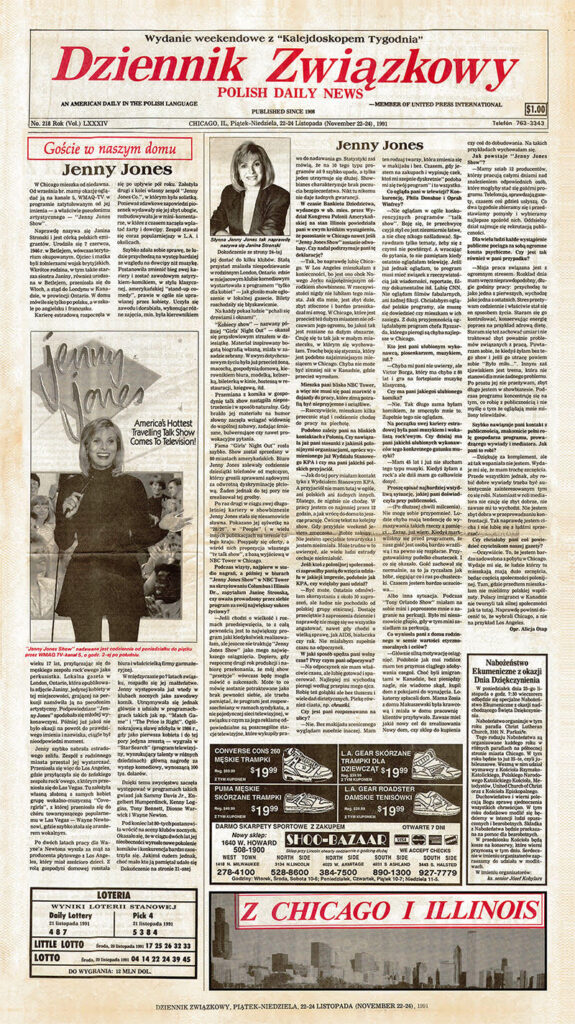 Jenny Jones Polish Newspaper